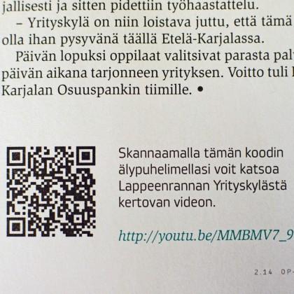 QR-koodilla jaat printissä kätevästi myös videoita